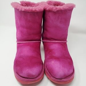 UGG Pink Boots with Bailey Bow in Back